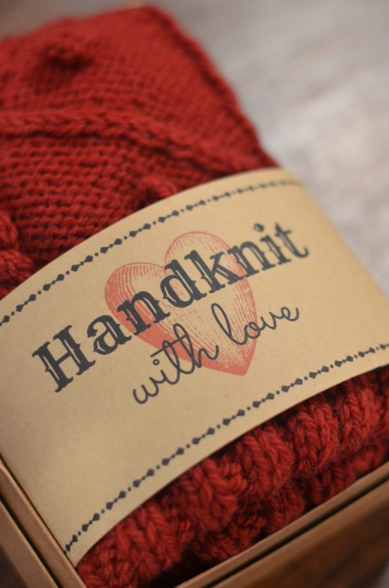 Free Printable- Gift Tag for Handknits | Cobberson + Co.