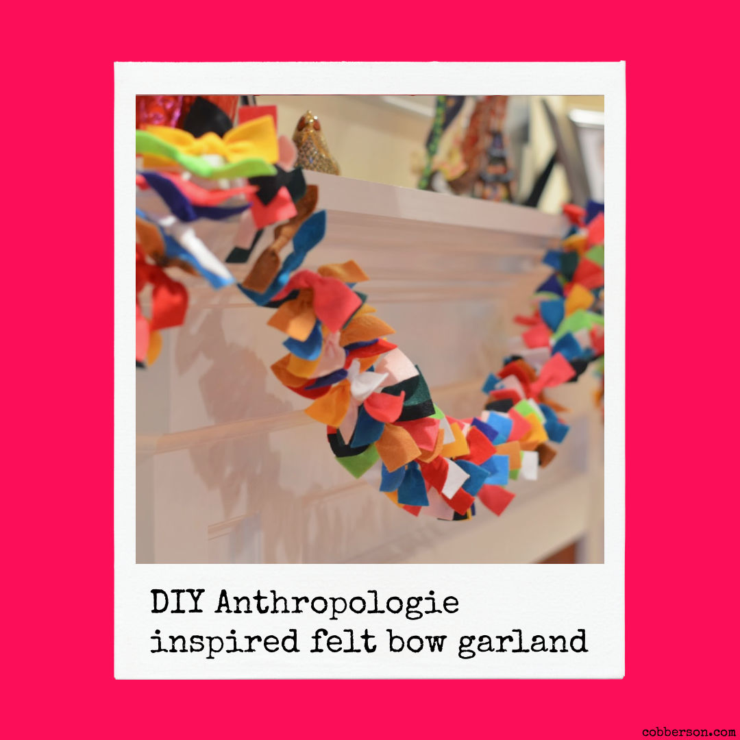 diy anthropologie felt bow garland