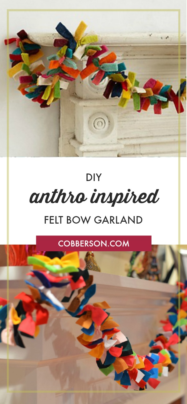 cobberson anthropologie inspired felt bow garland