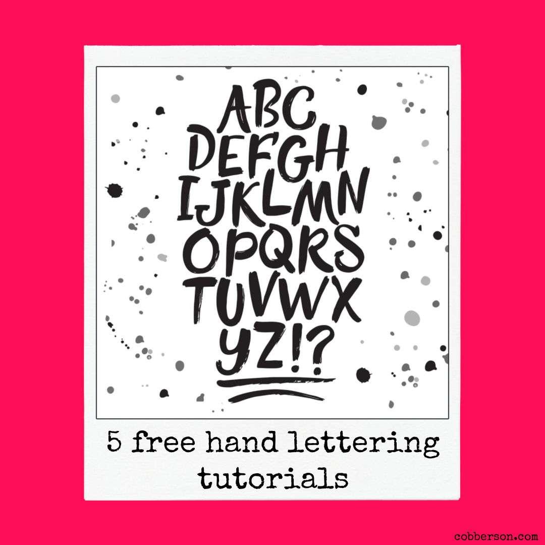 5 free hand lettering tutorials