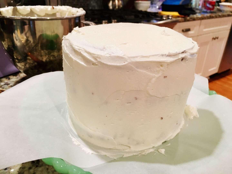 cobberson crumb coat buttercream cake