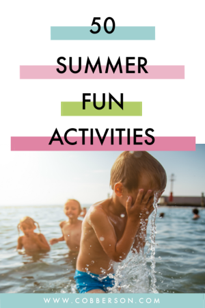 Summer's here and your kids are usually telling you they are bored by week 2. Enter our summer bucket list. 50 fun activities that are screen free, and fun for all ages. Print it out and start making memories. #bucketlist