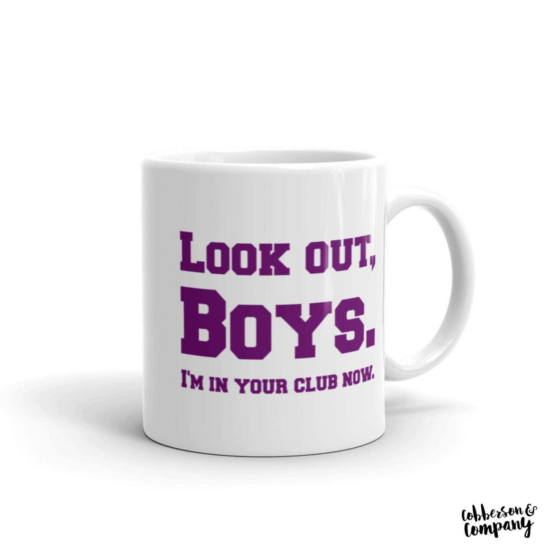 Leslie Knope boys club mug cobberson