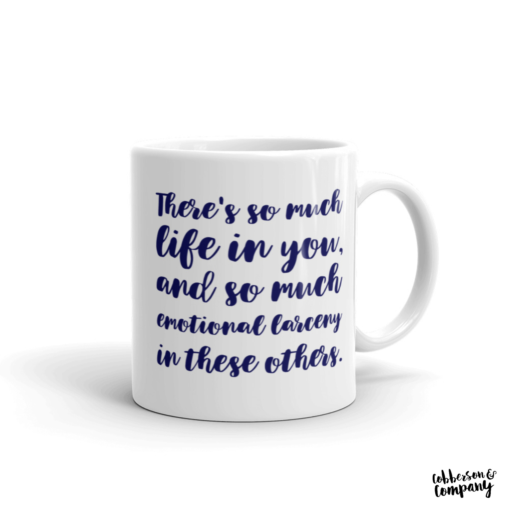 emotional larceny singles movie mug