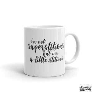 Stitious mug