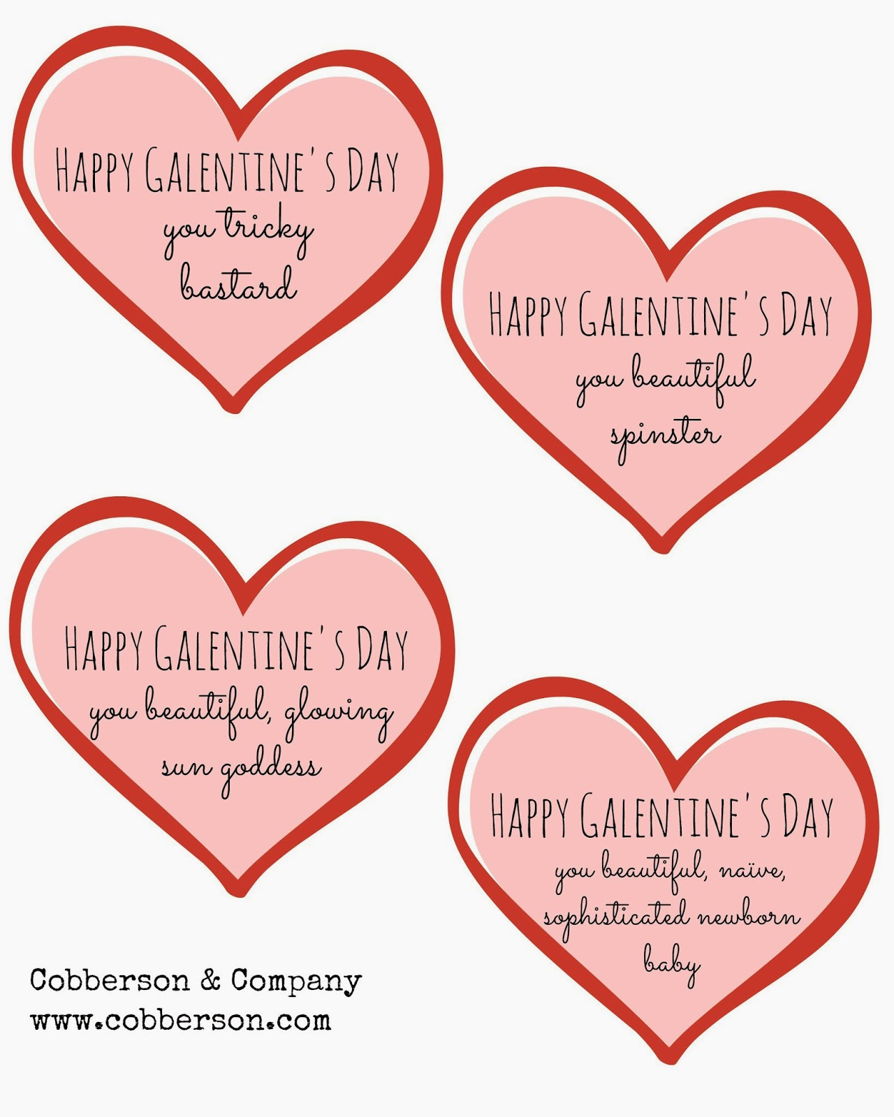 cobberson galentines day printable gift tag