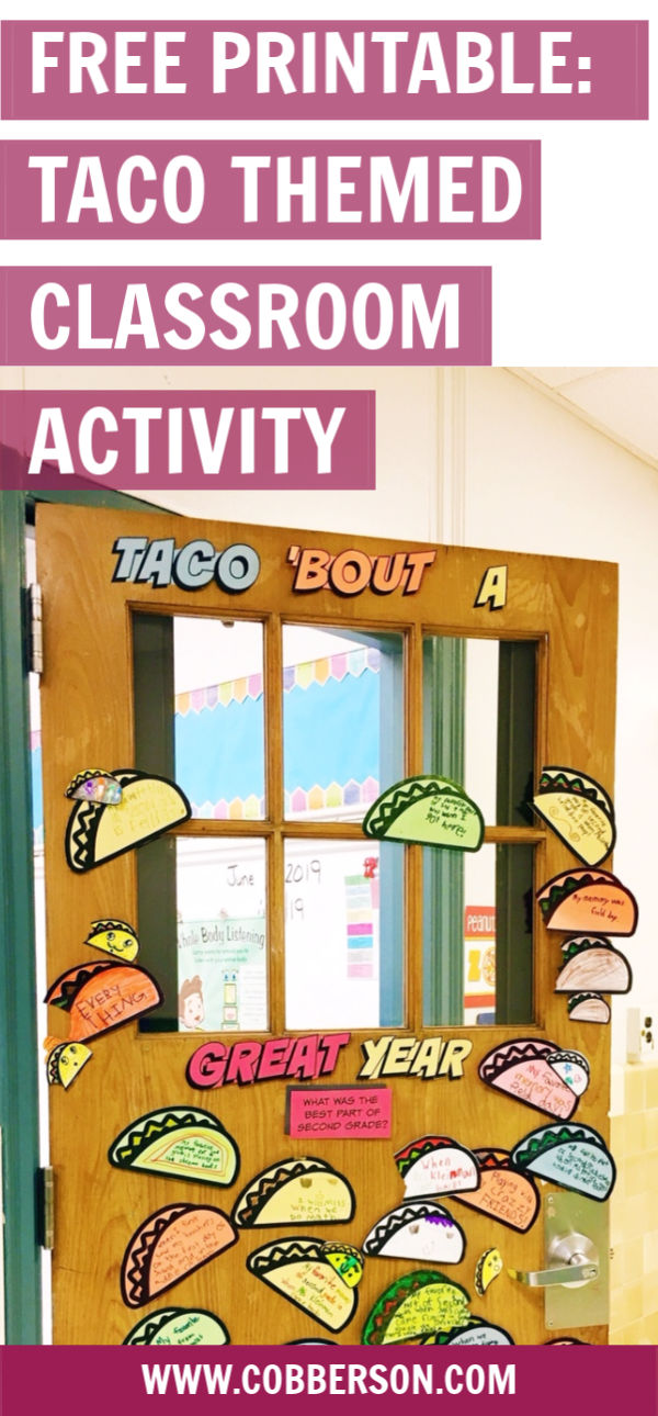 cobberson free printable taco classroom decorating