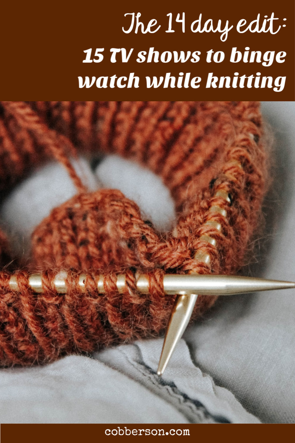 tv shows to binge watch while knitting