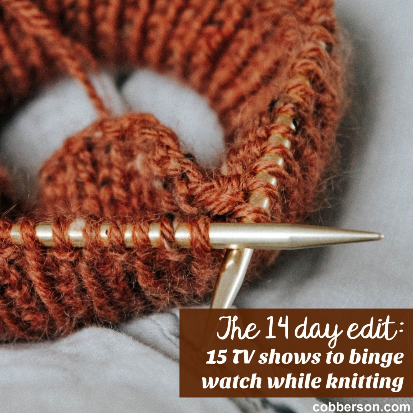 15 shows to binge watch while knitting