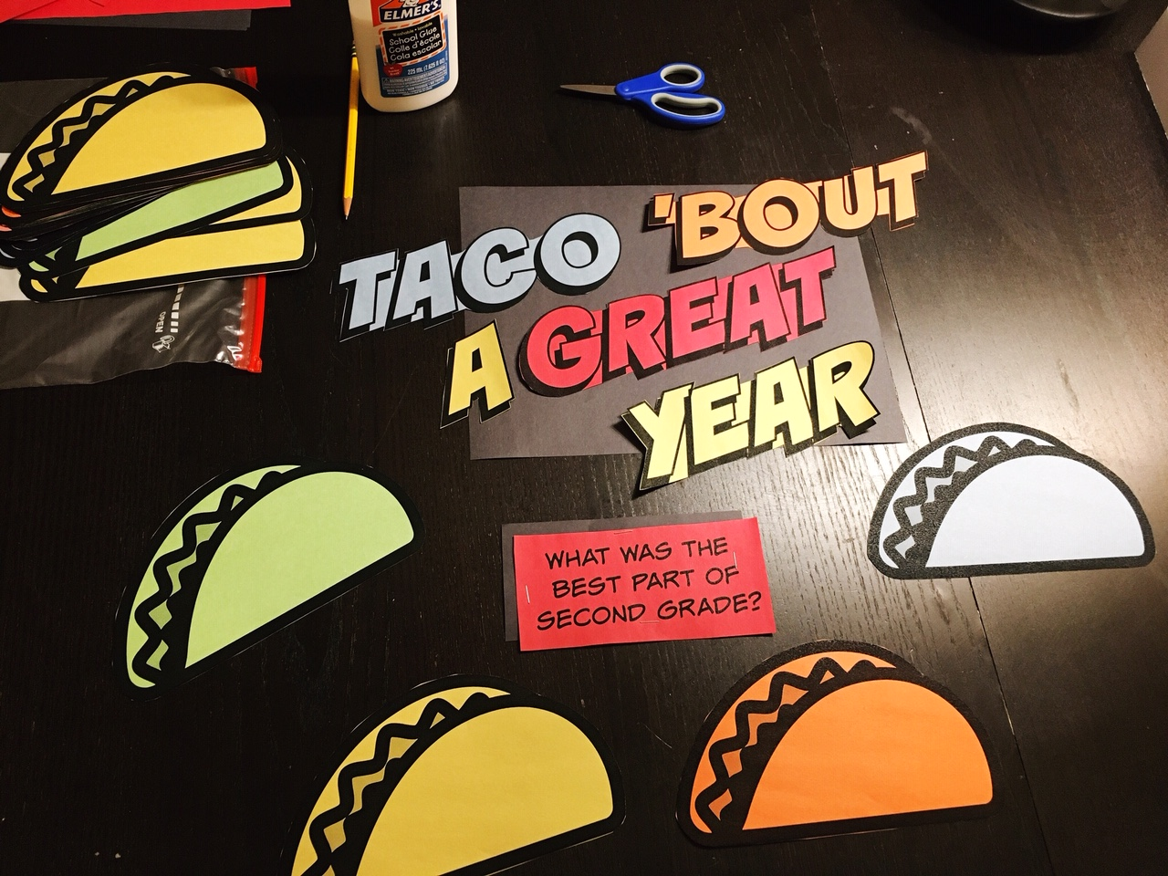 cobberson taco theme free printable classroom door decorating activity