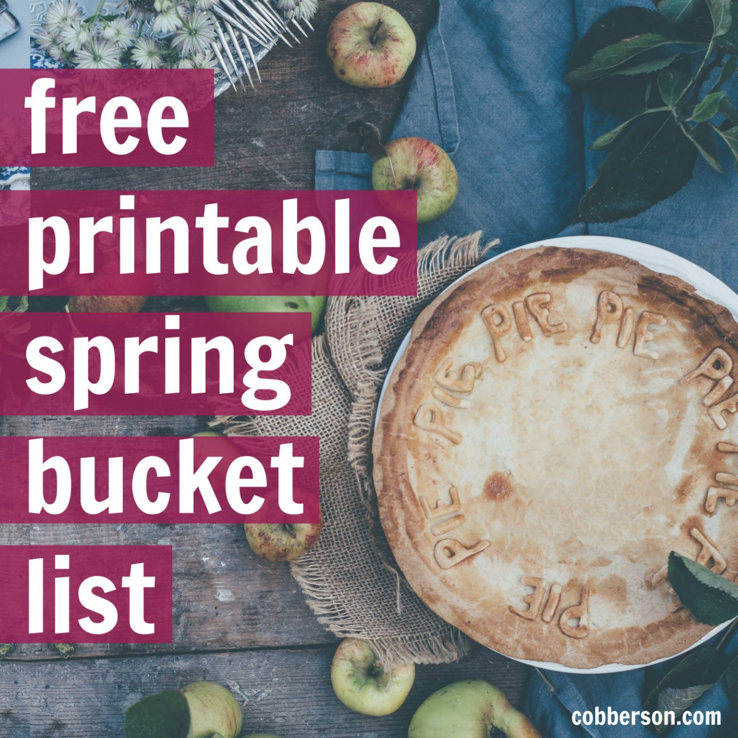 free printable spring bucket list