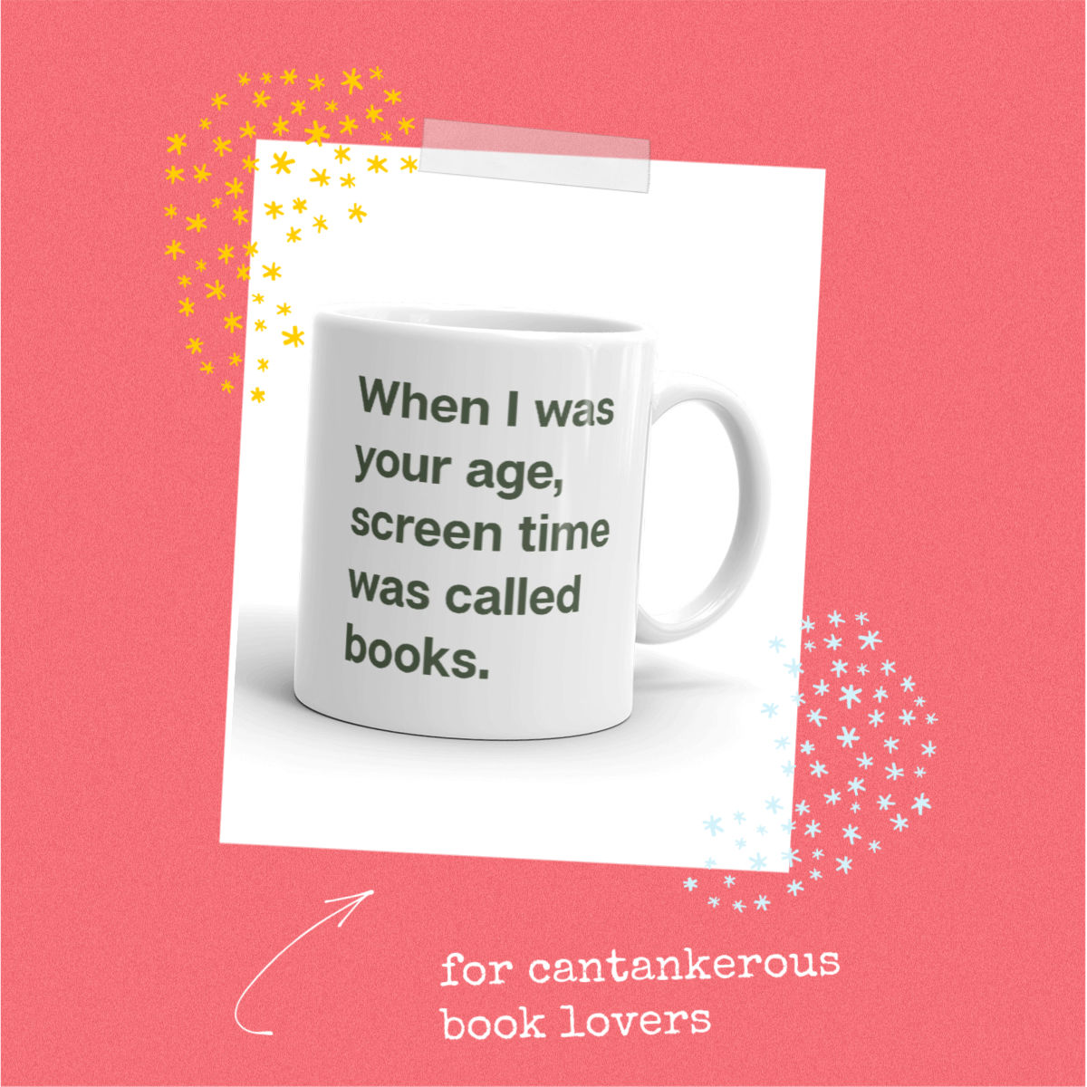cobberson screen time was called books mug