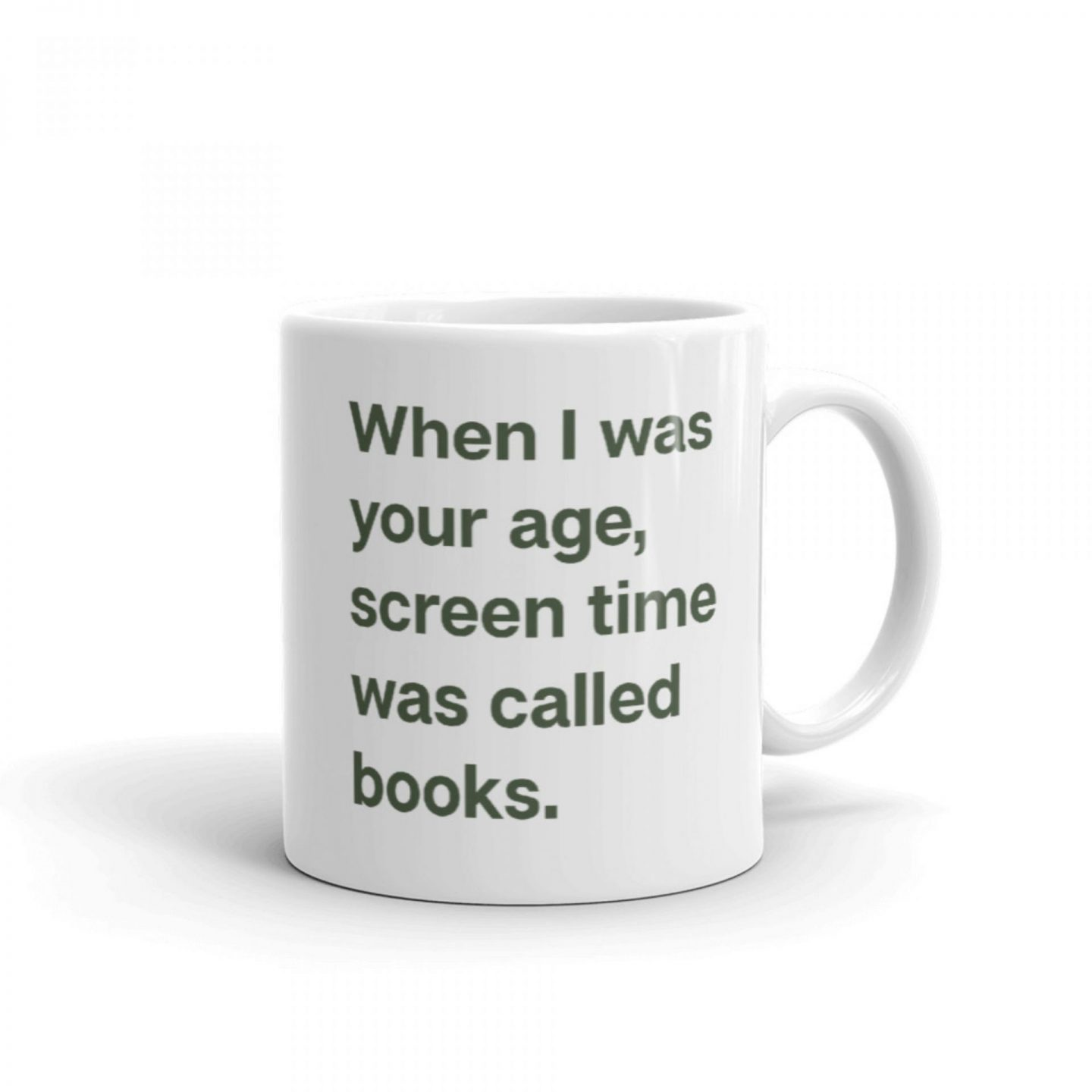 cobberson when i was your age screen time was called books mug