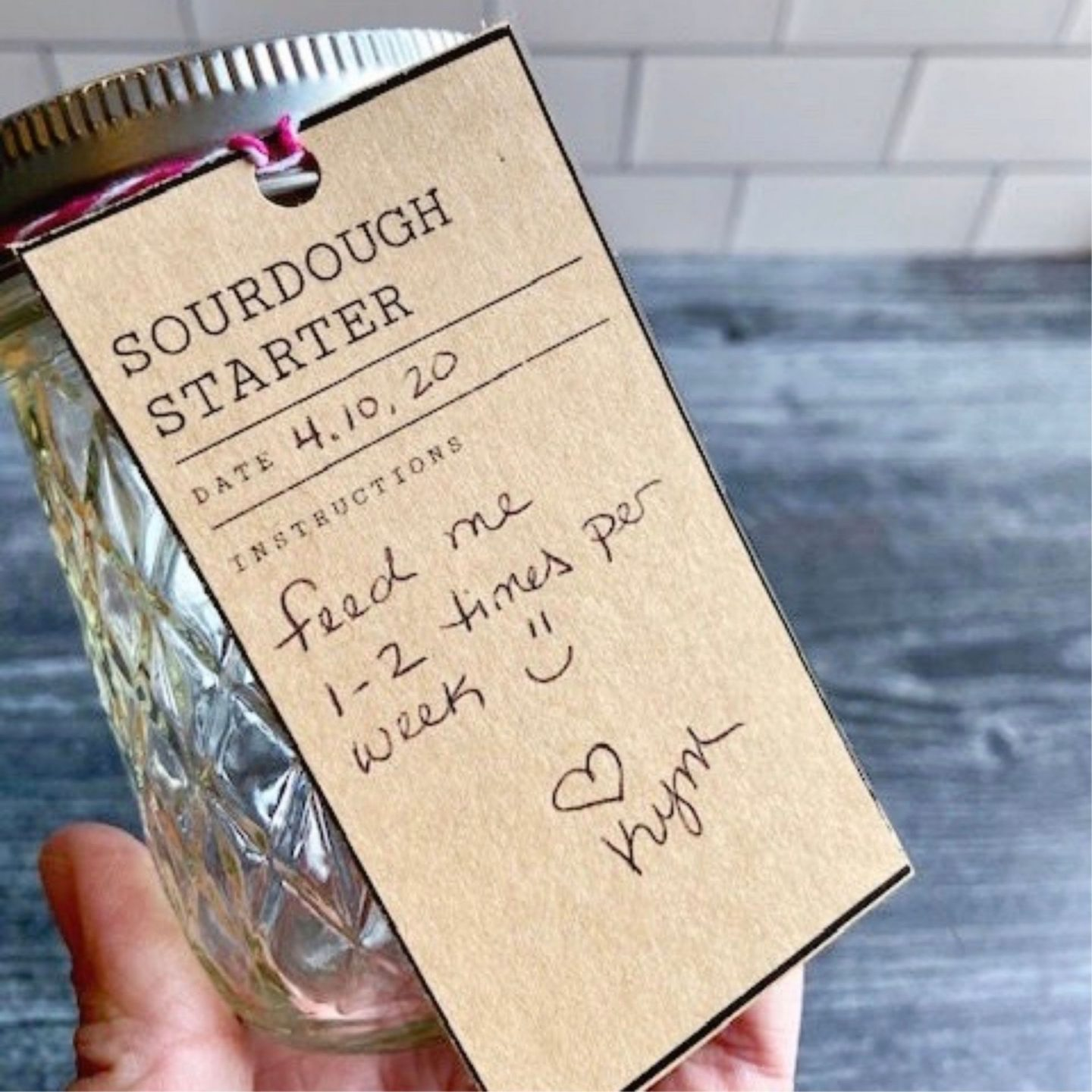 Shop update: sourdough starter gift tags and recipe card