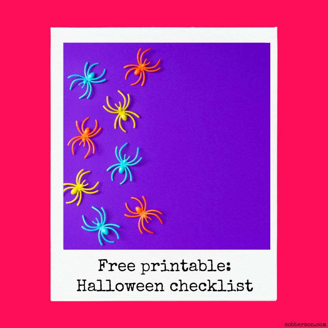 free printable halloween checklist