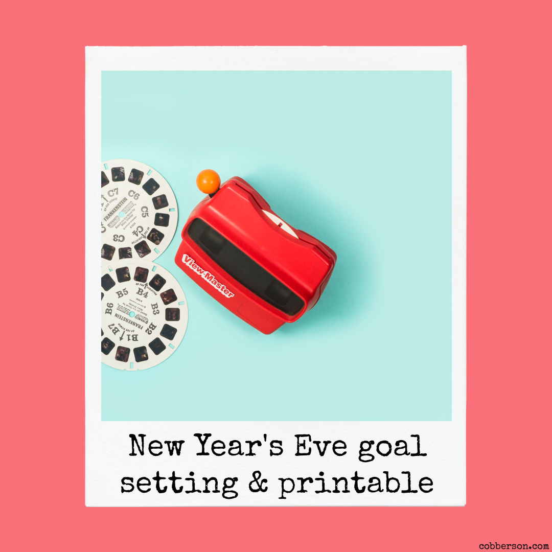 new year goal setting and printable