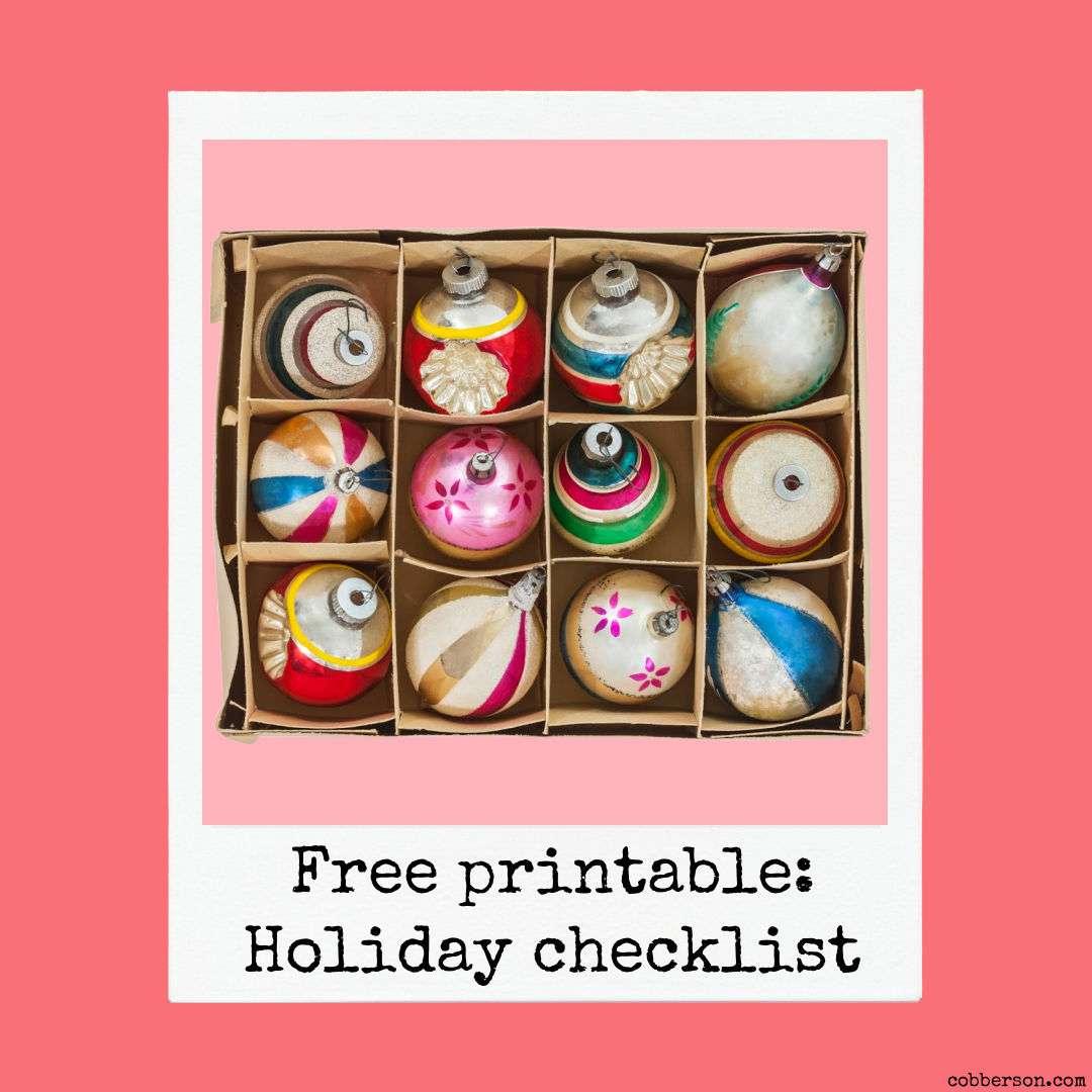 free printable holiday checklist