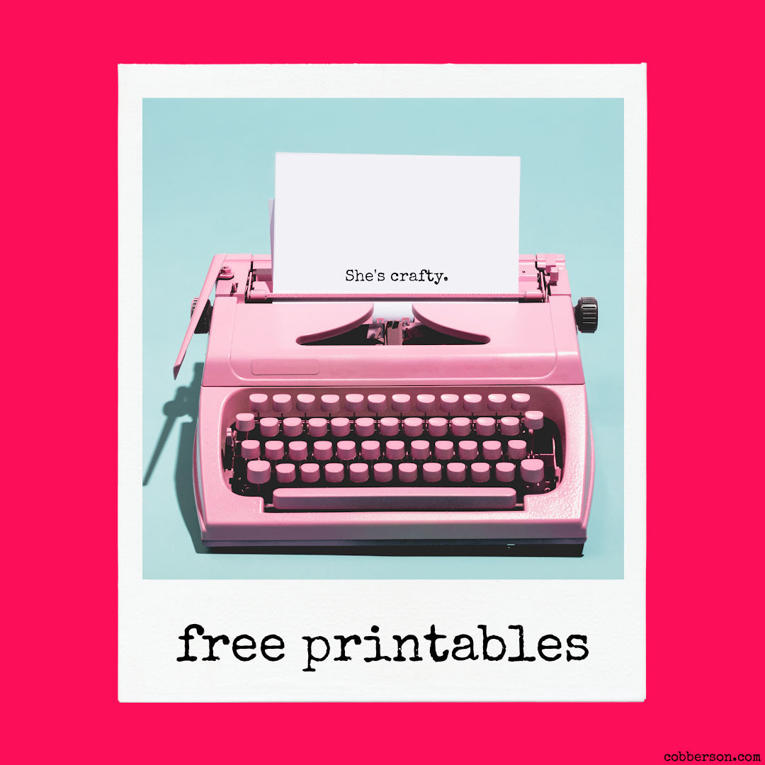 cobberson free printables
