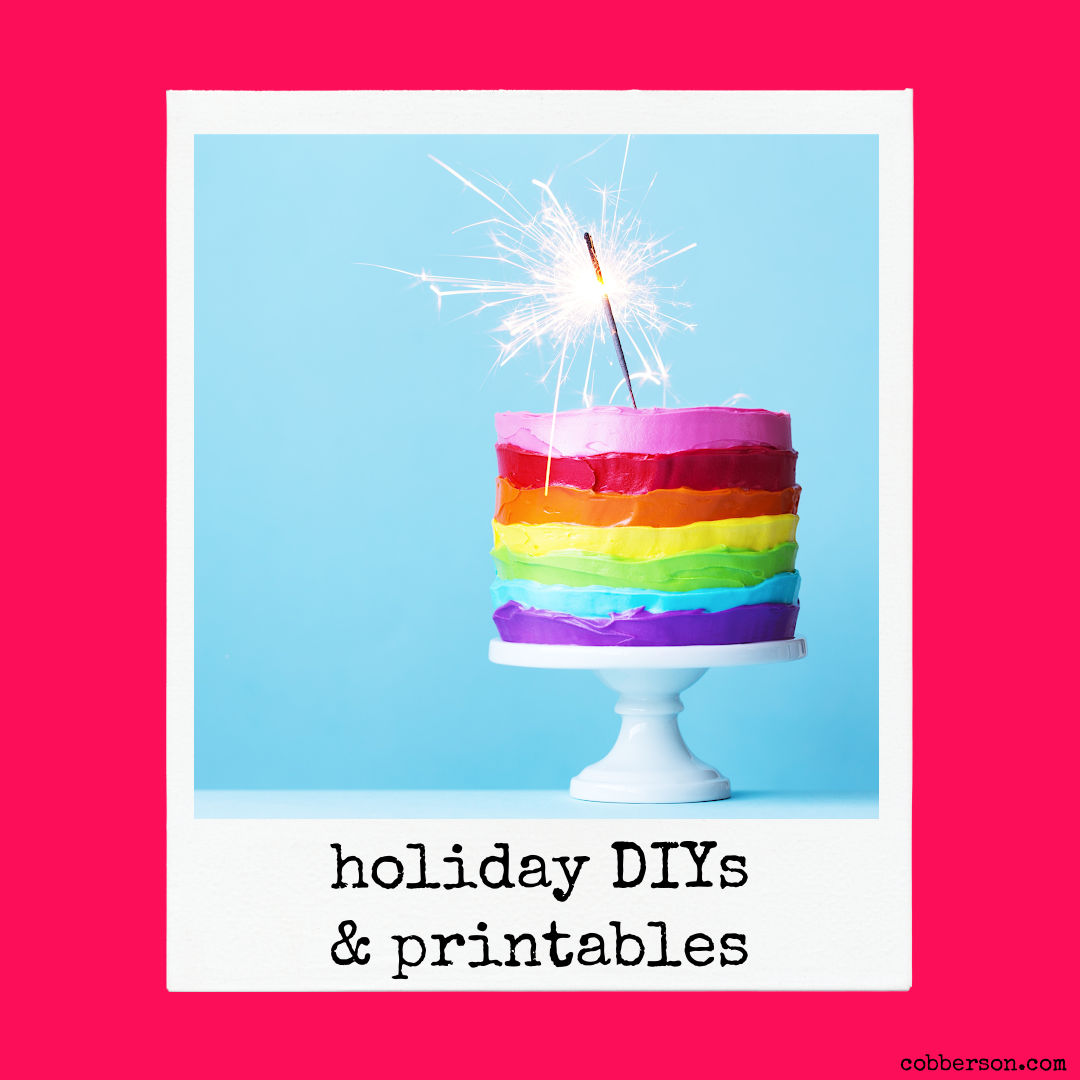 cobberson holiday diy and printables