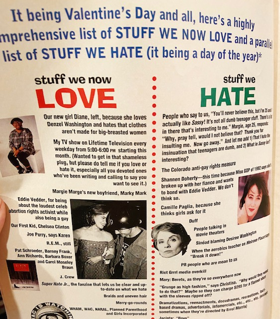 sassy love hate column