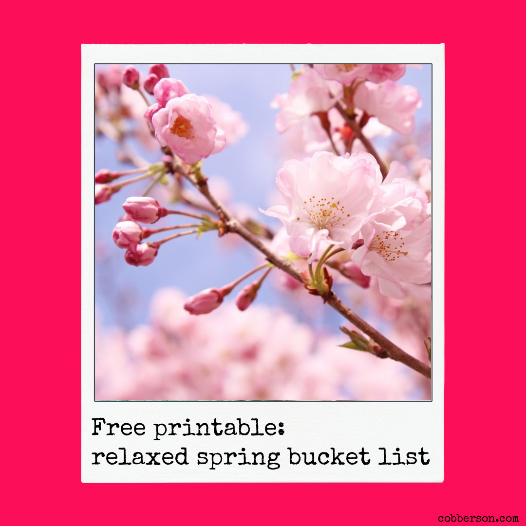 free printable relaxed spring bucet list